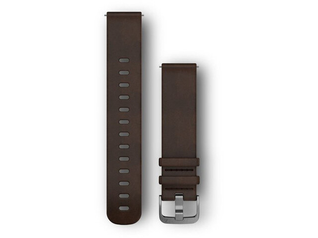 Garmin Quick Release Leather Bands 20mm brown/silver